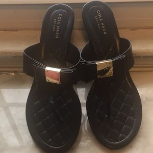 Cole Haan Microwedge Tali Bow Slides